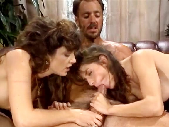 Bionca, Nikki Dial, Steve Drake in 80s porn girls finger each other's shaved pussies