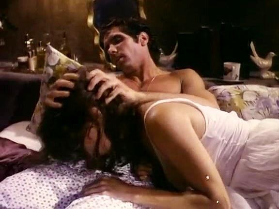 Jennifer Jordan, Eric Edwards in hotwater blowjob from an 80's porn housewife