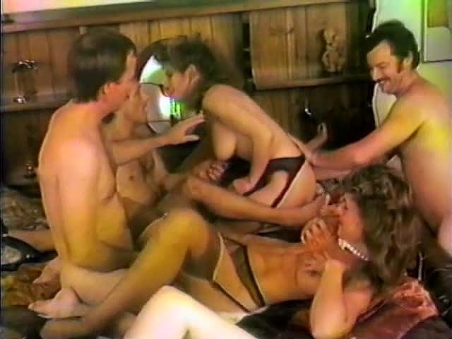 Mimi Daniels, Randy Alexander, Sheri St. Clair in vintage porn movie
