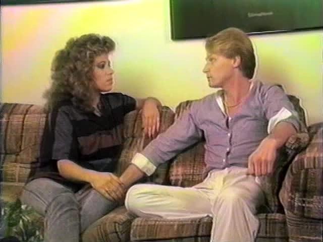 Mimi Daniels, Randy Alexander, Sheri St. Clair in vintage porn scene
