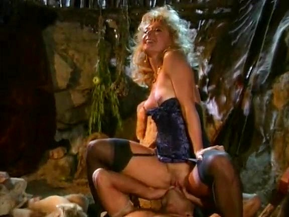 Nina Hartley, Jon Dough in 80's porn video of a barbarian fucking a blondie